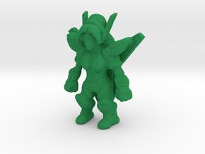 GynoidGuardian Keshi in Green Strong & Flexible Polished