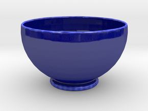 Soup Bowl in Gloss Cobalt Blue Porcelain