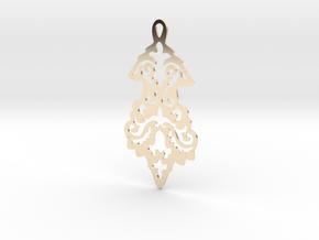 BlakOpal Victorian Flourish Earring in 14k Gold Plated Brass