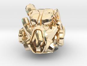 X0-1 Power Armour Helmet. in 14K Yellow Gold