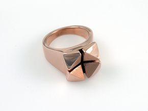 Box Flower - Precious Metals & Plastics in 14k Rose Gold Plated Brass