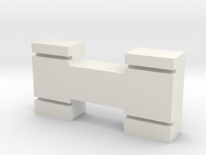 N-Gauge-Block in White Natural Versatile Plastic