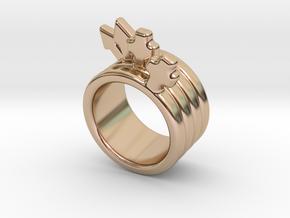 Love Forever Ring 31 - Italian Size 31 in 14k Rose Gold Plated Brass