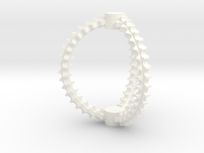 Cat Toy in White Strong & Flexible Polished