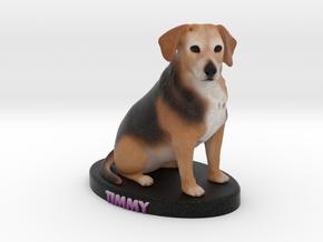 Custom Dog Figurine - Timmy in Full Color Sandstone