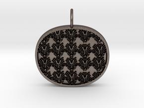 Ornamental Keychain in Polished Bronzed Silver Steel