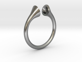 Gramaphonic Sharp Ring, US size 8, d=18 mm in Natural Silver: 8 / 56.75