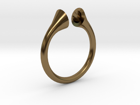 Gramaphonic Sharp Ring, US size 8, d=18 mm in Polished Bronze: 8 / 56.75