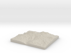 Model of Ink Lake in Natural Sandstone