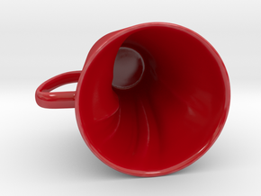Anatomical Heart in a Mug in Gloss Red Porcelain