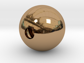 Goofy Bolt Accessories - Sphere 18mm diameter in Polished Brass