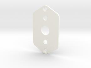 Jaguar Plate - 3-way Toggle, 2 mini toggles in White Processed Versatile Plastic