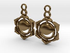 Chakra Swadhisthana Sacral Earrings in Polished Bronze