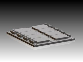 4 x VLS Launcher 8 Cell Segment 1/144 in Smooth Fine Detail Plastic