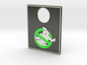 Pinball Plunger Plate - Spooky 2 in Glossy Full Color Sandstone