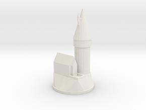 Minimalist Hogwarts in White Natural Versatile Plastic