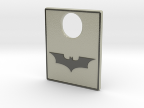 Pinball Plunger Plate - Dark Knight in Glossy Full Color Sandstone