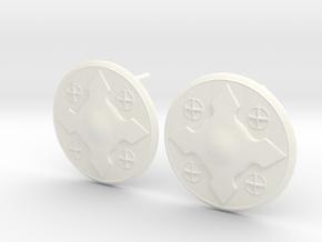 Wotan Cross Earring in White Processed Versatile Plastic