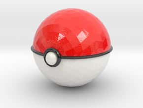 Pokeball (small) in Glossy Full Color Sandstone
