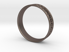 Ornamental Ring in Polished Bronzed Silver Steel