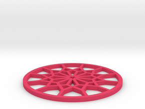 Coaster-4 in Pink Processed Versatile Plastic
