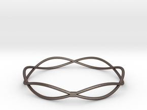 Bracelet in Polished Bronzed Silver Steel