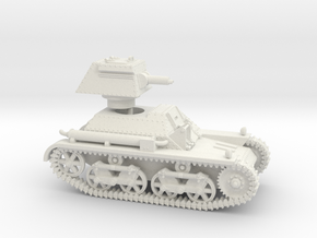 Vickers Light Tank Mk.IIb (28mm scale) in White Natural Versatile Plastic