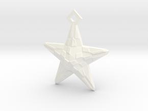 Stylised Sea Star Pendant in White Processed Versatile Plastic
