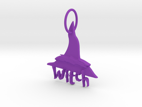 Witch Key Chain by Graphic Glee in Purple Processed Versatile Plastic