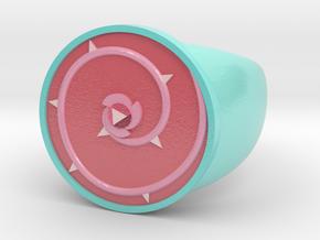 Rose Ring (Full-Colour Sandstone) in Glossy Full Color Sandstone