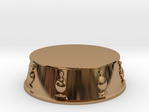 Chess Bishop Base - 1 inch in Polished Brass