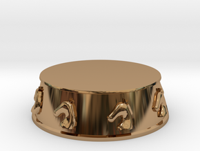 Chess Knight Base - 1 inch in Polished Brass