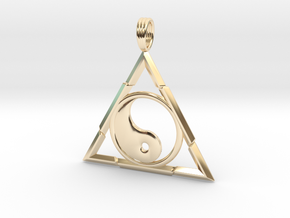 TRINITY YIN-YANG in 14K Yellow Gold
