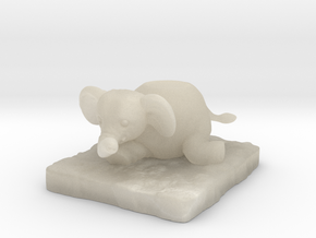 Elephant in White Acrylic