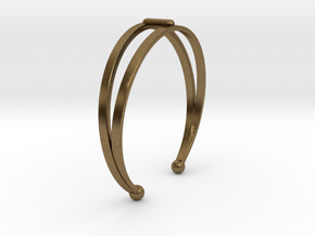 Ø53 Mm Bracelet Elegance Ø2.086 inch XS in Natural Bronze