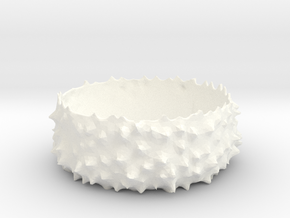 Spiky Bowl in White Strong & Flexible Polished