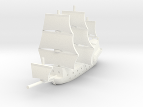 1/1250 Galleon game piece 2 in White Strong & Flexible Polished