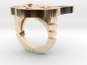 Cat Ring in 14k Gold Plated Brass