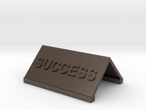 Motivational Novelties in Polished Bronzed Silver Steel