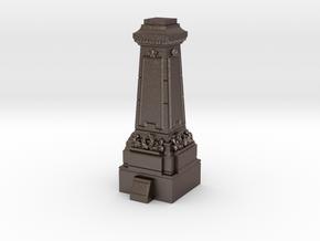 28mm/32mm Statue Plinth in Polished Bronzed Silver Steel