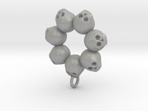 Seven Skull pendant in Aluminum