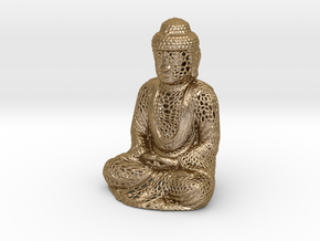 Full Buddha For Shapeways in Polished Gold Steel
