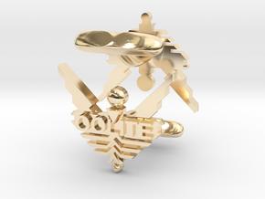 Oolite Cufflinks in 14K Yellow Gold