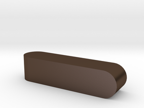 Blank d4 Sphericon Stick Die in Polished Bronze Steel