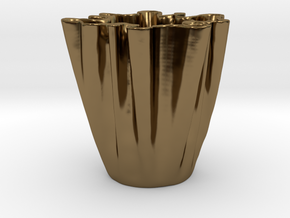 Cloth Cup in Polished Bronze