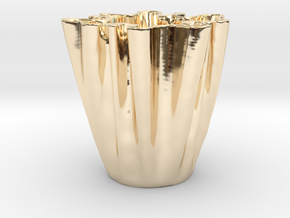 Cloth Cup in 14k Gold Plated Brass