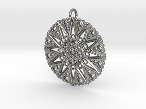 Star Mandala in Raw Silver