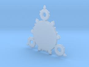 Mandelbrot 3 Leaf In Pendant in Smooth Fine Detail Plastic
