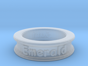 Name-Ring in Smooth Fine Detail Plastic