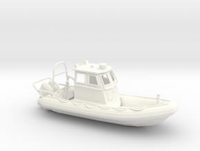 RIB Zodiac hurricane. 1:64 Scale  in White Processed Versatile Plastic
